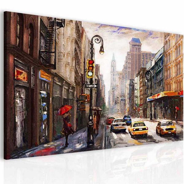 Malvis Obraz malovaná ulice  - zvìtšit obrázek