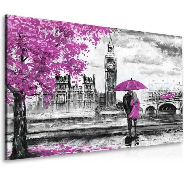 Malvis Obraz londýnská procházka fialová  - zvìtšit obrázek