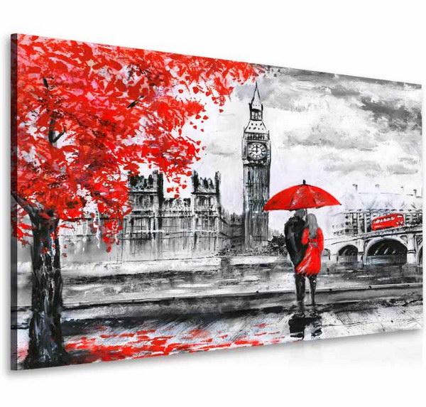 Malvis Obraz londýnská procházka èervená  - zvìtšit obrázek