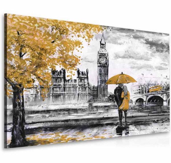 Malvis Obraz londýnská procházka žlutá  - zvìtšit obrázek
