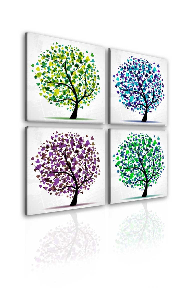 Malvis Obraz srdíèkové stromy roèních období  - zvìtšit obrázek