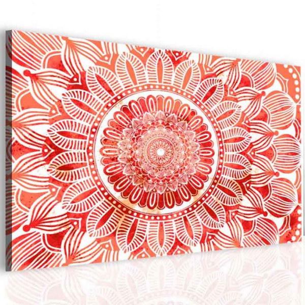 Malvis Obraz mandala èervené slunce  - zvìtšit obrázek