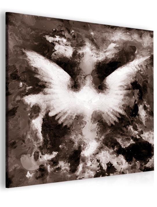 Malvis Abstraktní obraz andìlská køídla - hnìdý  - zvìtšit obrázek