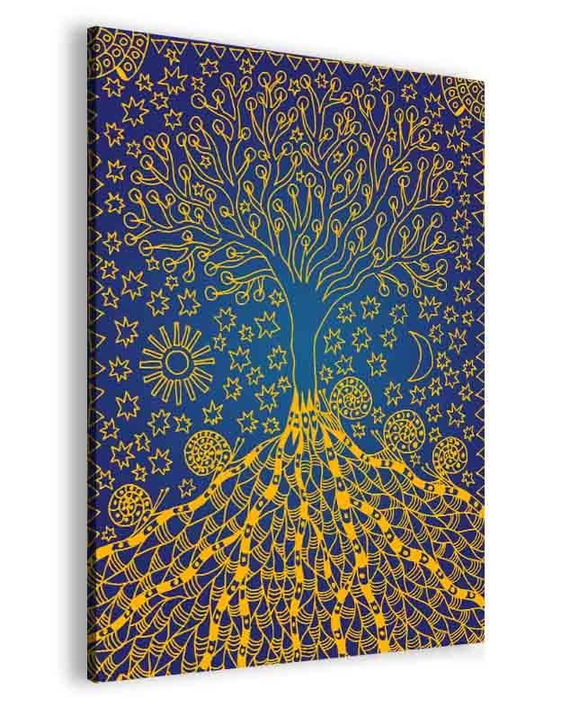 Malvis Obraz modrozlatý kouzelný strom  - zvìtšit obrázek