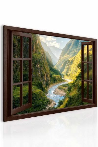 Malvis Obraz fascinující kaòon za oknem  - zvìtšit obrázek