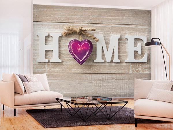 Murando DeLuxe Tapeta srdce domu fialové  - zvìtšit obrázek