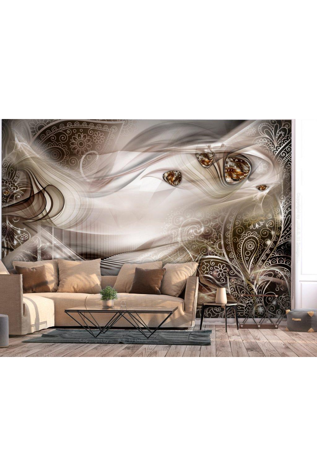Murando DeLuxe Tapeta abstrakce - hnìdá  - zvìtšit obrázek