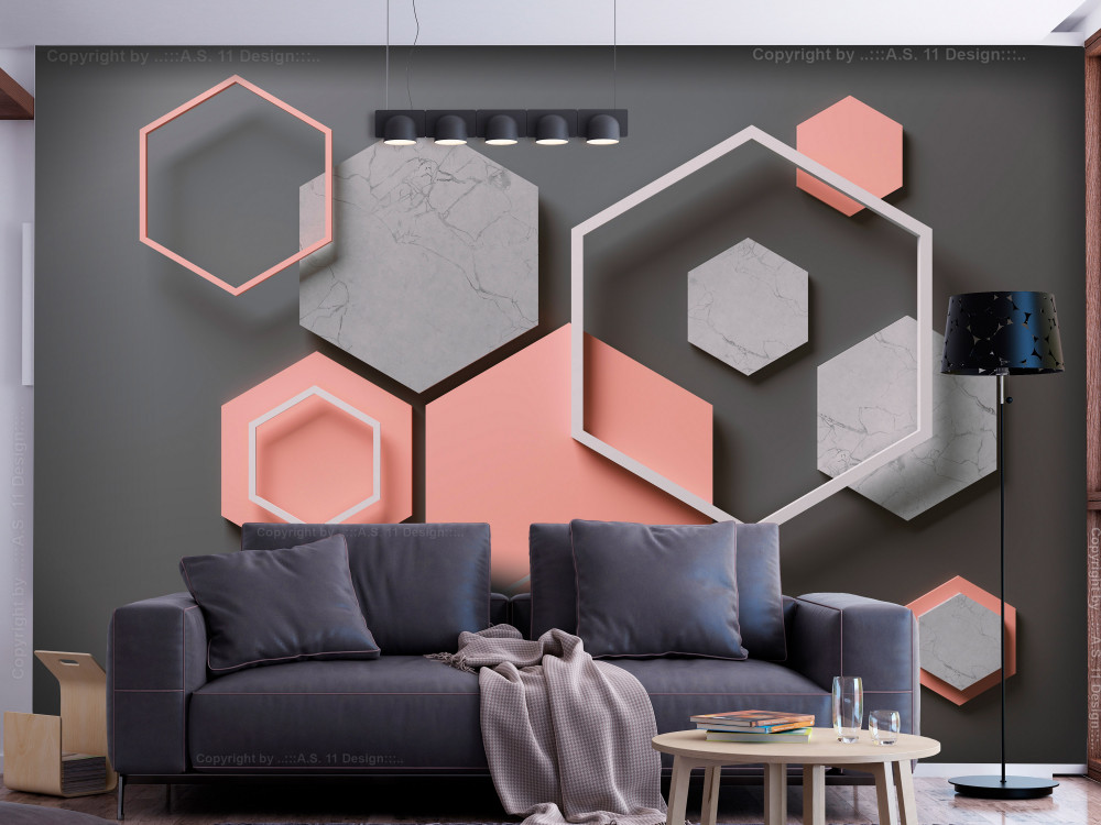 Murando DeLuxe Tapeta 3D hexagon  - zvìtšit obrázek