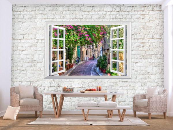 Murando DeLuxe Tapeta cihlová zeï s oknem  - zvìtšit obrázek