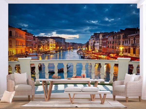 Murando DeLuxe Fototapeta noèní život v Benátkách  - zvìtšit obrázek