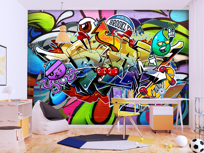 Murando DeLuxe Tapeta Graffiti tøešnì  - zvìtšit obrázek