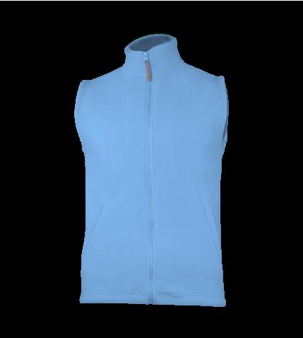 UNI fleecová vesta - azurovì modrá