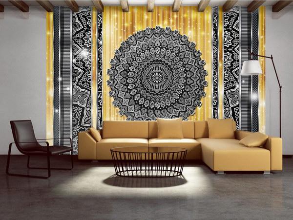 Murando DeLuxe Tapeta mandala ve zlaté  - zvìtšit obrázek