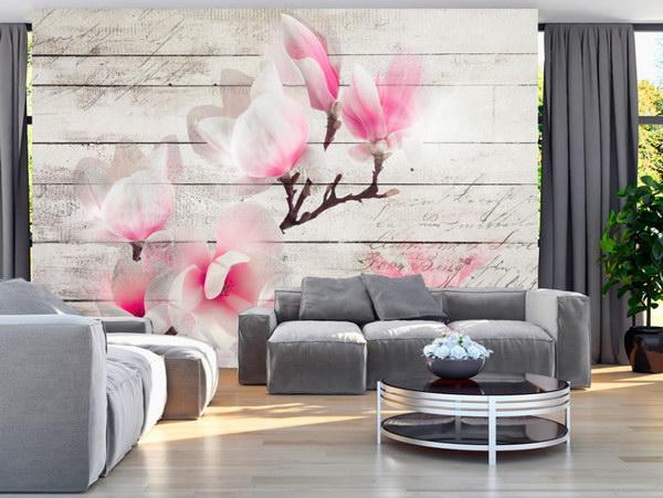 Murando DeLuxe Tapeta magnolie na døevì  - zvìtšit obrázek