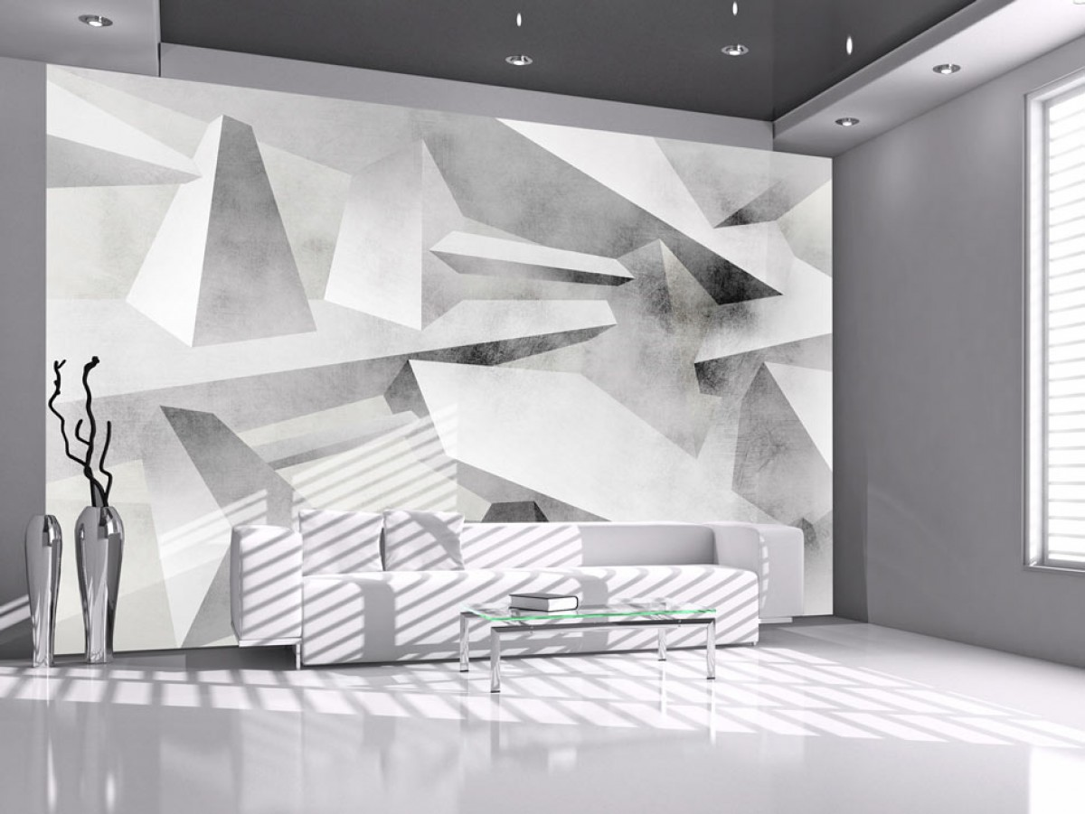 Murando DeLuxe 3D abstraktní tapeta šedá  - zvìtšit obrázek
