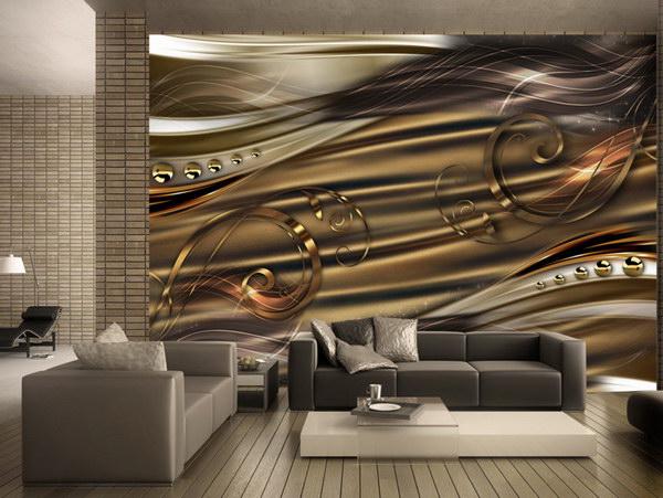 Murando DeLuxe Tapeta abstraktní zlatohnìdá  - zvìtšit obrázek