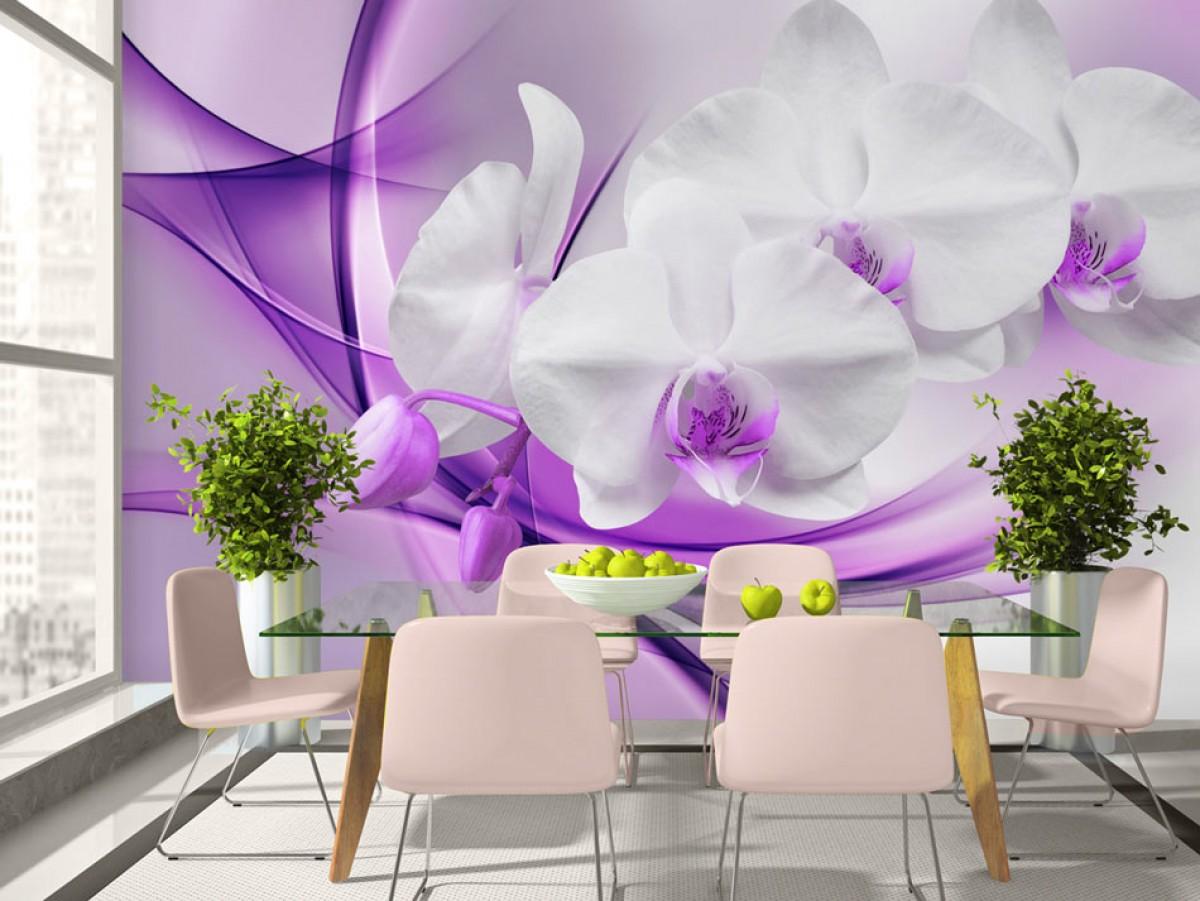 Murando DeLuxe Tapeta Orchidej na fialovém obláèku  - zvìtšit obrázek