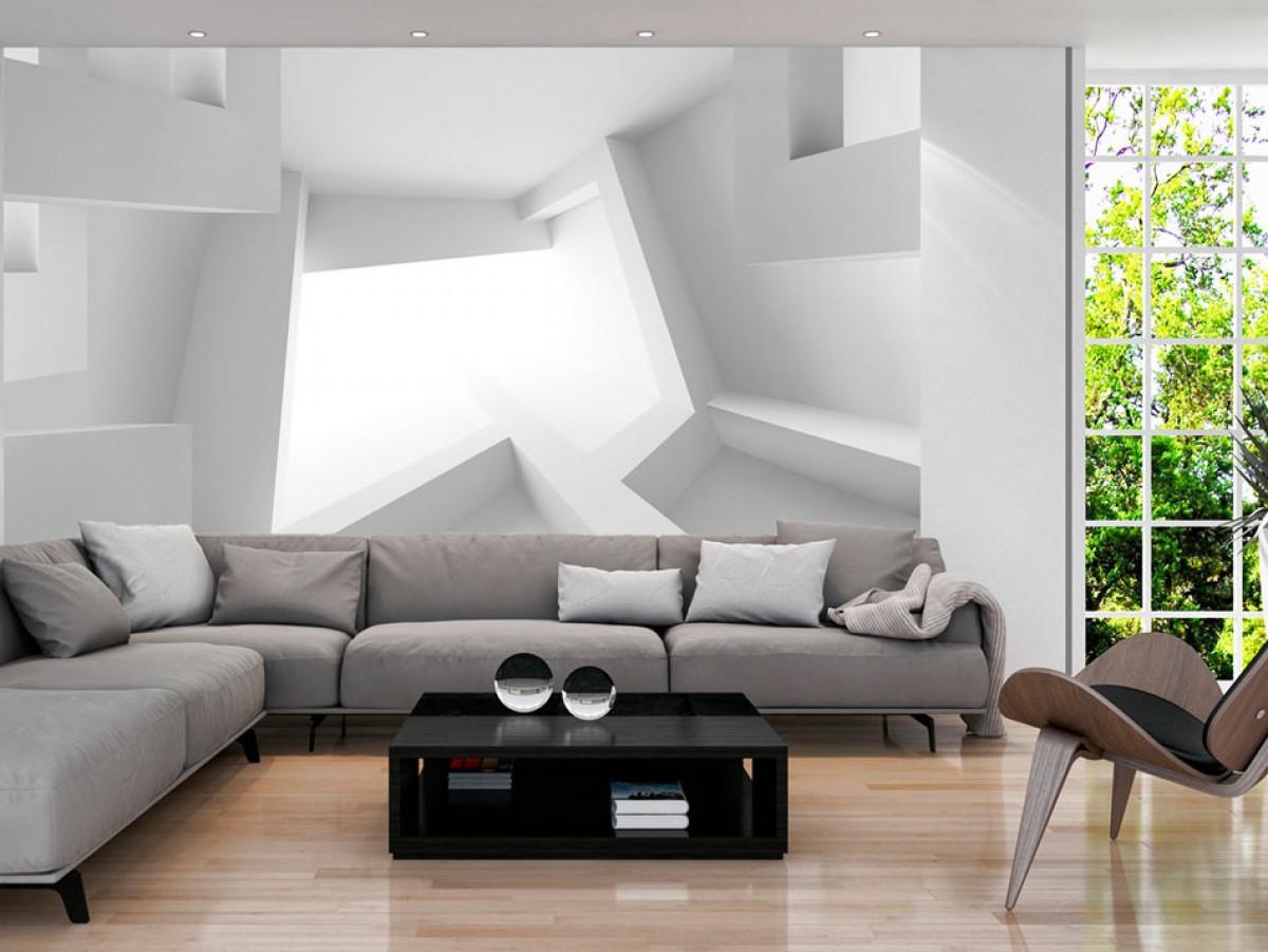 Murando DeLuxe 3D tapeta - bílá  - zvìtšit obrázek