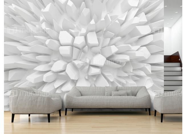 Murando DeLuxe 3D Tapeta Rostoucí bílé krystaly  - zvìtšit obrázek
