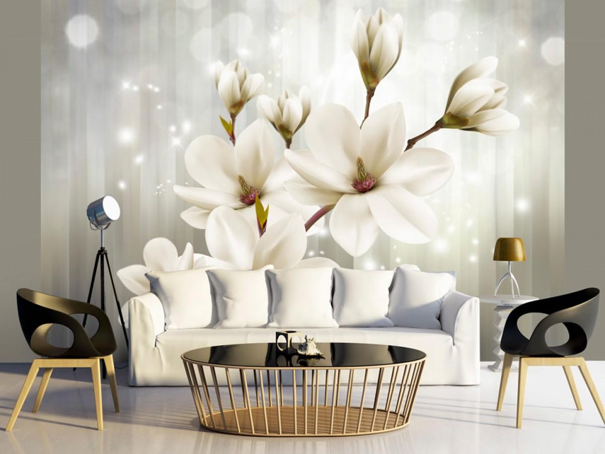 Murando DeLuxe Tapeta bílá magnolie  - zvìtšit obrázek