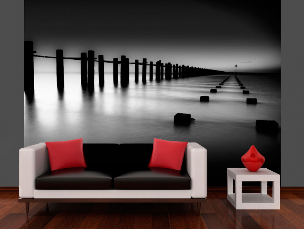 Murando DeLuxe Tapeta Temže èernobílá  - zvìtšit obrázek