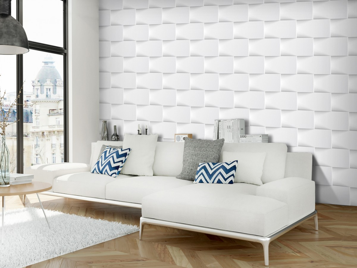 Murando DeLuxe 3D tapeta Bílá zeï  - zvìtšit obrázek
