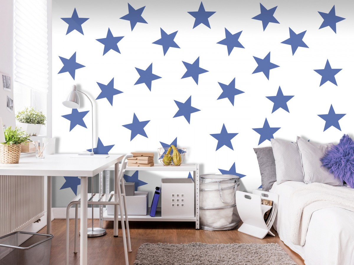 Murando DeLuxe Tapeta modré hvìzdy  - zvìtšit obrázek
