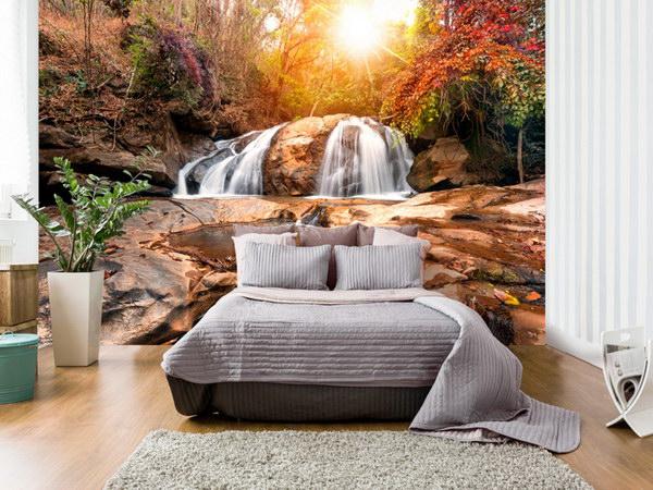 Murando DeLuxe Podzimní les s vodopády  - zvìtšit obrázek