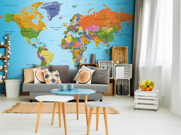 Murando DeLuxe Mapa svìta barevná  - zvìtšit obrázek
