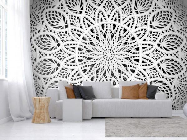Murando DeLuxe Tapeta bílá mandala  - zvìtšit obrázek