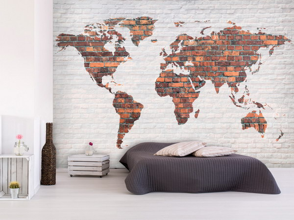 Murando DeLuxe Cihlová mapa svìta  - zvìtšit obrázek