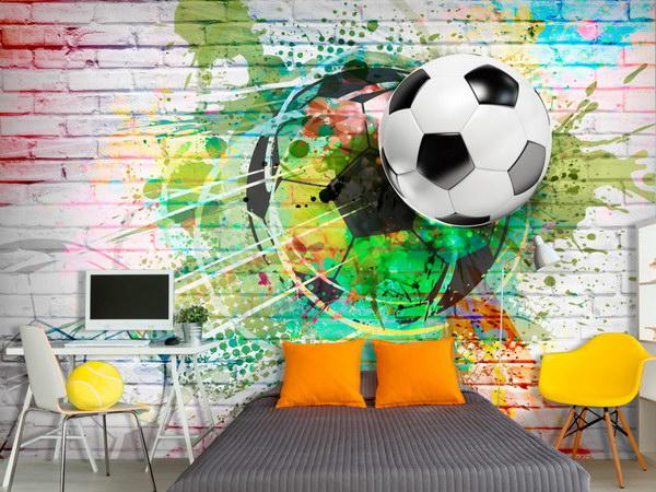 Murando DeLuxe Tapeta Barevný fotbal  - zvìtšit obrázek