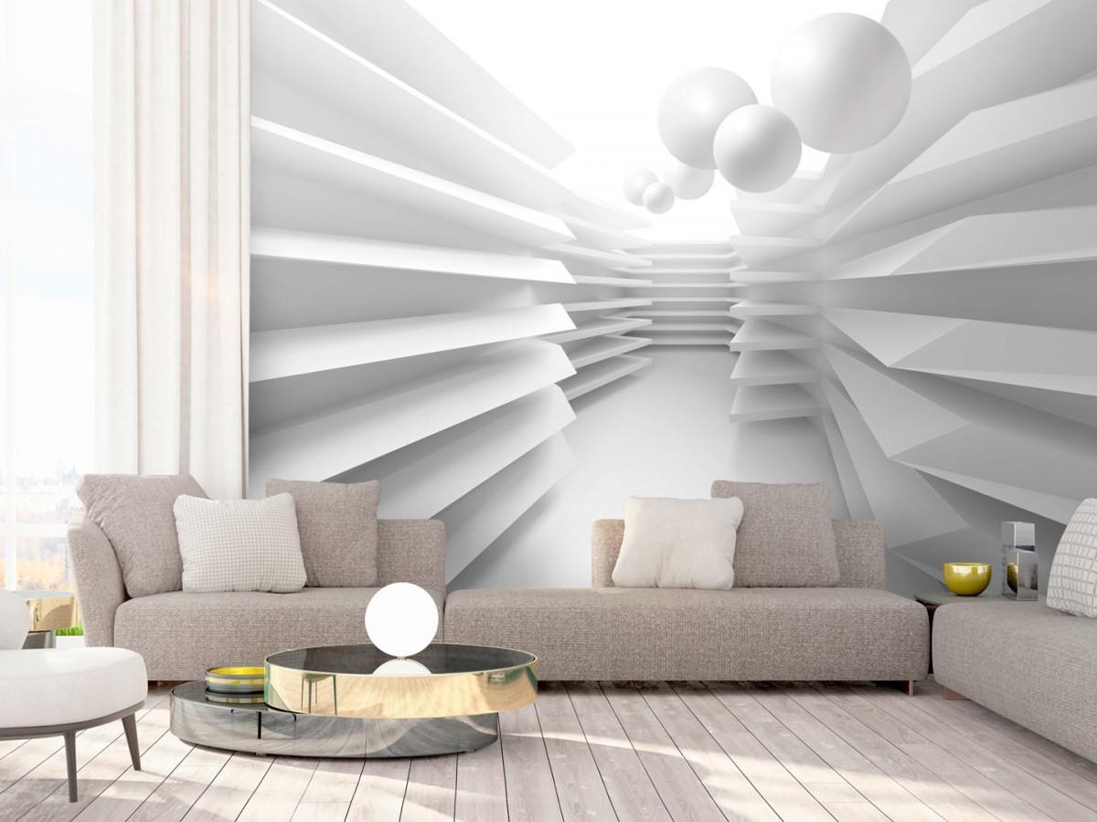 Murando DeLuxe 3D tapeta bílé bludištì  - zvìtšit obrázek