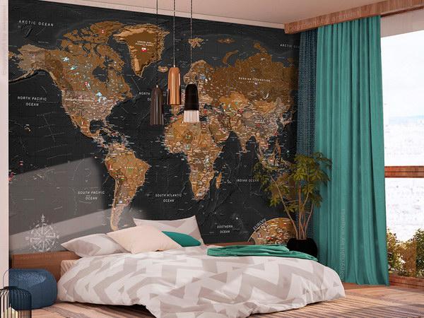 Murando DeLuxe Stylová mapa svìta  - zvìtšit obrázek