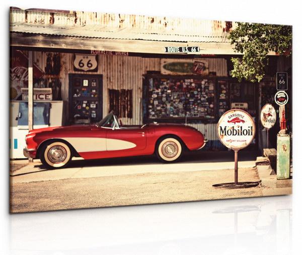 Malvis Obraz Americká benzinová pumpa  - zvìtšit obrázek