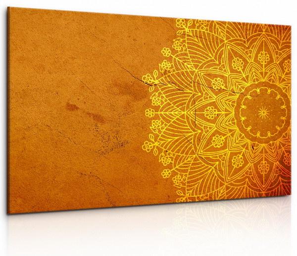 Malvis Obraz Kamenná oranžová mandala  - zvìtšit obrázek