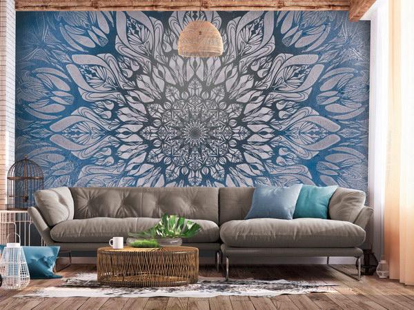 Murando DeLuxe Tapeta modrá mandala  - zvìtšit obrázek