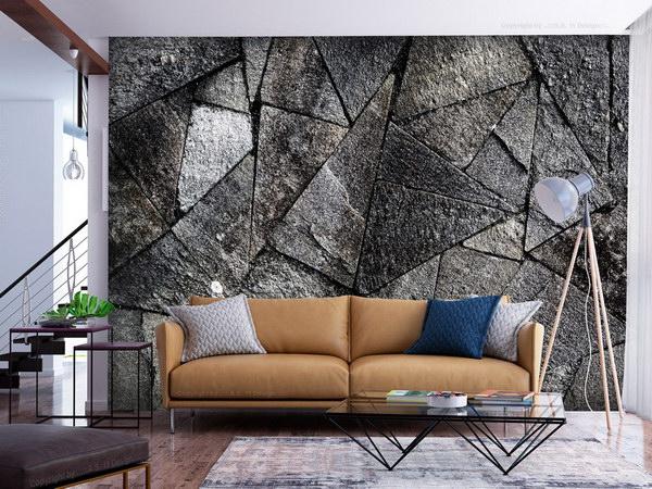 Murando DeLuxe Tapeta kamenná dlažba - šedá  - zvìtšit obrázek