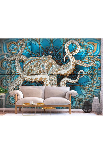 Murando DeLuxe 3D tapeta mandala a chobotnice  - zvìtšit obrázek