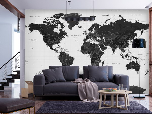Murando DeLuxe Èernobílá mapa  - zvìtšit obrázek