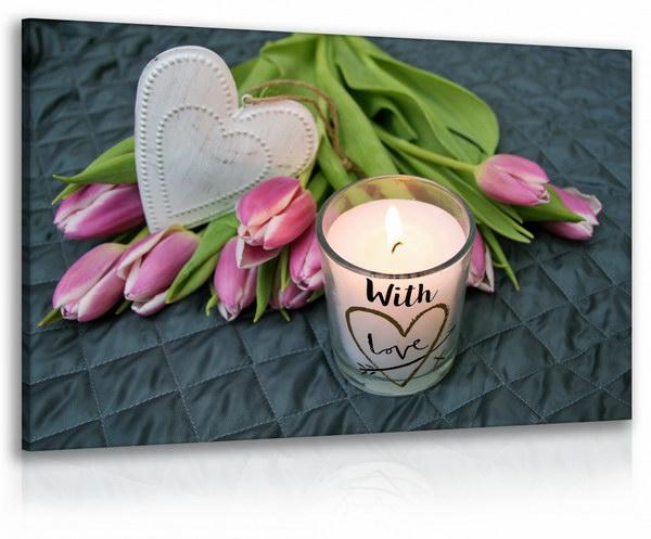 Malvis Obraz relax - kvìtina se svíèkou  - zvìtšit obrázek