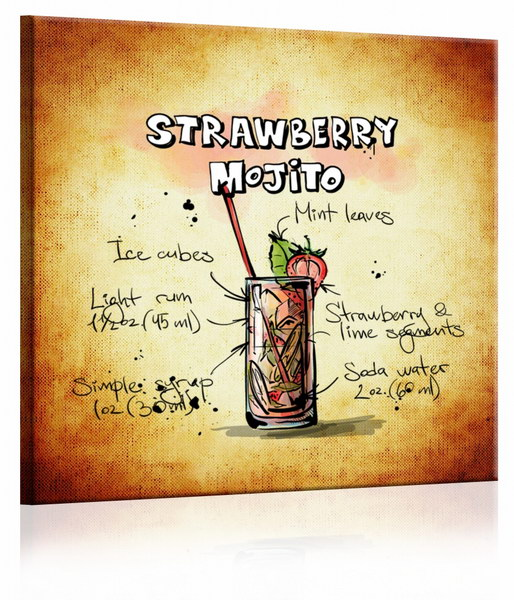 Malvis Obraz cedule Strawberry Mojito  - zvìtšit obrázek