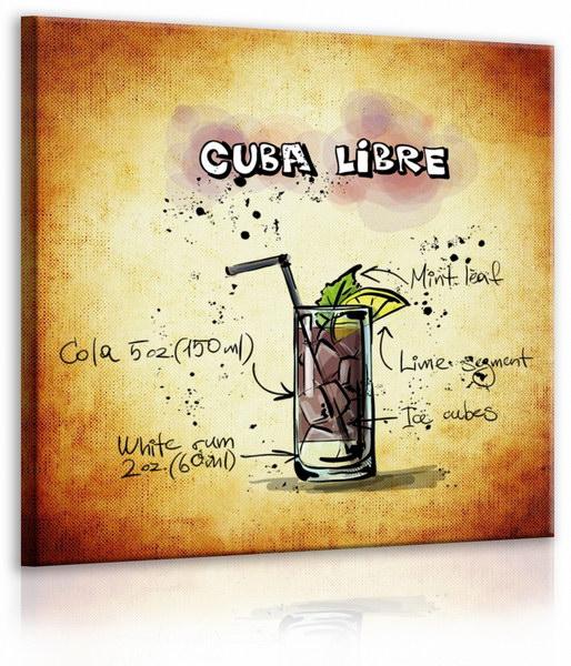 Malvis Obraz cedule Cuba Libre  - zvìtšit obrázek