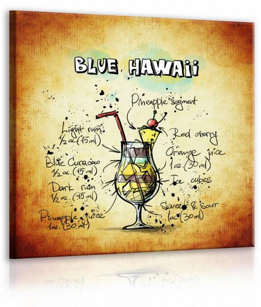 Malvis Obraz cedule Blue Hawaii  - zvìtšit obrázek