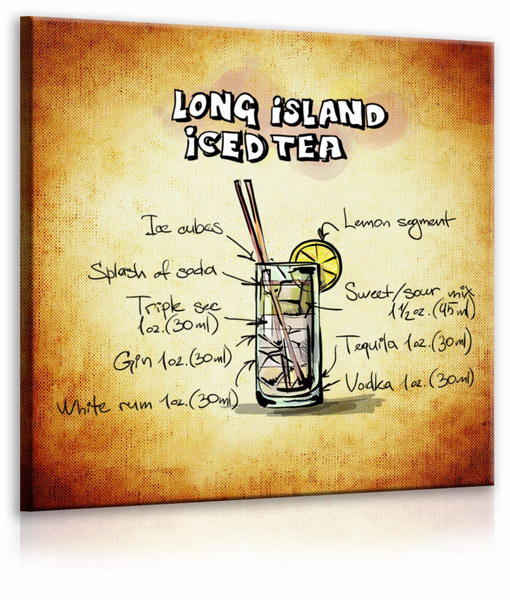 Malvis Obraz cedule Long Island Iced Tea  - zvìtšit obrázek