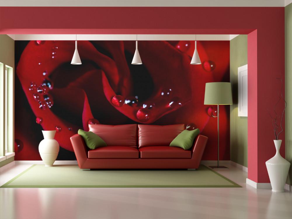 Murando DeLuxe Tapeta rudá rùže  - zvìtšit obrázek