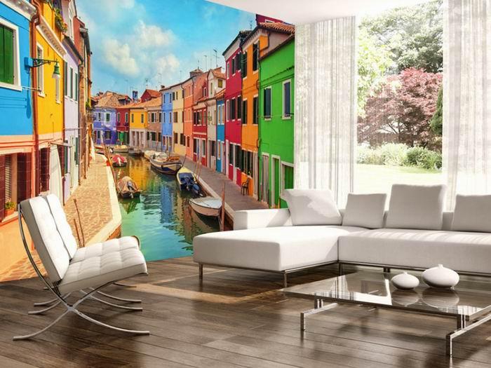 Murando DeLuxe Fototapeta barevné Benátky  - zvìtšit obrázek