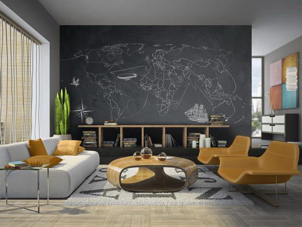 Murando DeLuxe Tapeta - Mapa na tabuli  - zvìtšit obrázek