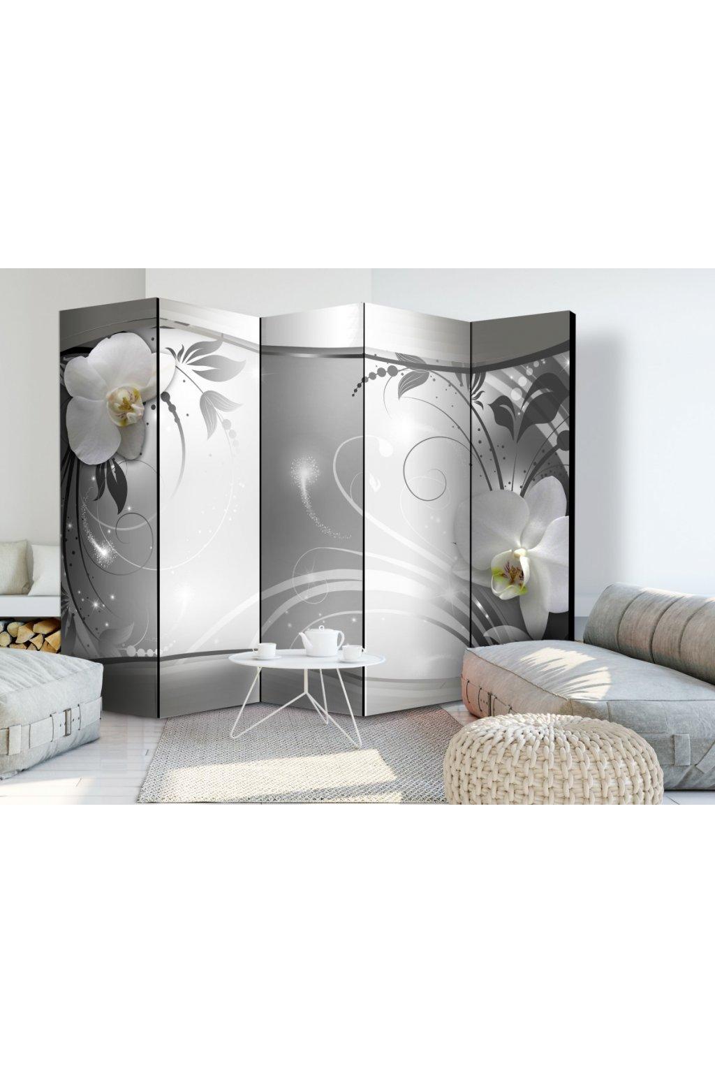 Murando DeLuxe Paraván støíbrná abstrakce II Samolepicí tapety  225x172 cm - zvìtšit obrázek