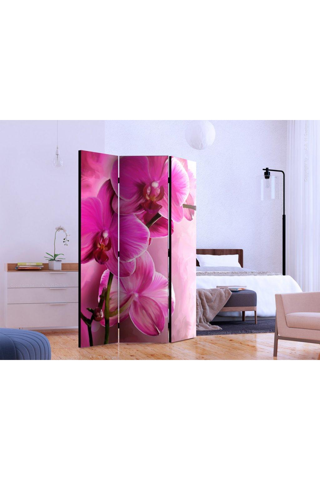 Murando DeLuxe Paraván rùžové orchideje Paravány  135x172 - zvìtšit obrázek